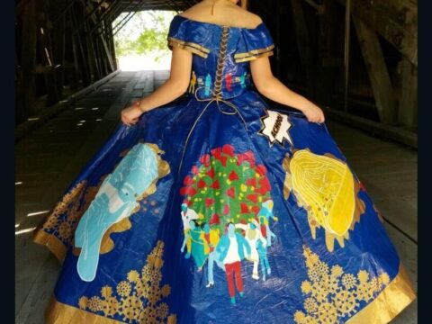 Teen's coronavirus-themed toddle costume made of duct tape is a work of art