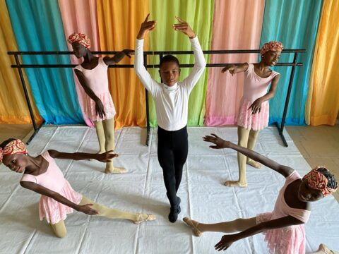 Jump of faith: Nigerian boy captivates the area with his ballet