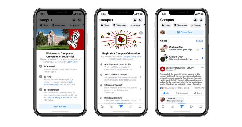 Fb goes relieve to its roots with online space for school students